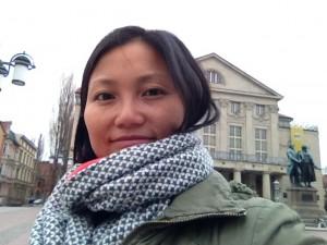 龚丽妮在威玛歌德广场